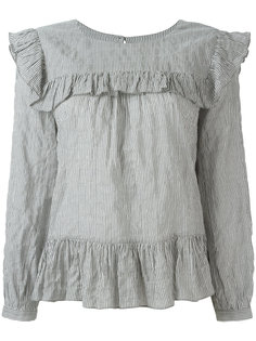 блузка в полоску с оборками Masscob