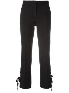 укороченные брюки с боковой шнуровкой Alberta Ferretti