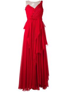 драпированное платье  Alberta Ferretti