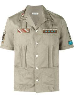 рубашка с вышитыми аппликациями Valentino