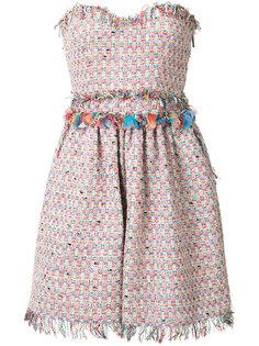 твидовое платье без бретелек MSGM