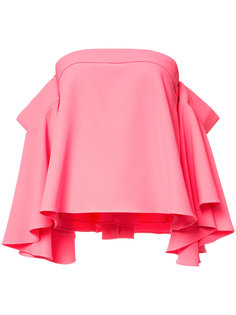 расклешенная блузка с открытыми плечами Milly