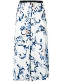 укороченные брюки с цветочным принтом Antonio Marras