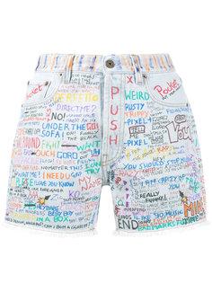 джинсовые шорты с граффити Faith Connexion