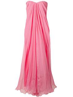 вечернее платье-бюстье с драпировкой Alexander McQueen