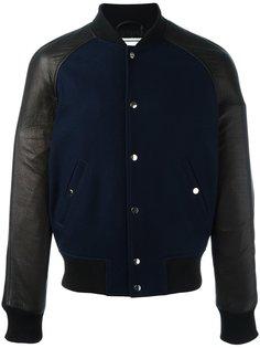 куртка-бомбер с контрастными панелями Ami Alexandre Mattiussi