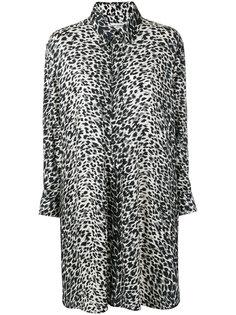 платье-рубашка с леопардовым принтом Saint Laurent