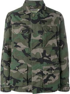 камуфляжная куртка в стиле милитари Valentino