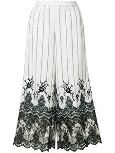 полосатые брюки с кружевной отделкой Kobi Halperin