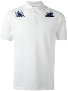 футболка-поло с вышивкой ласточек Alexander McQueen