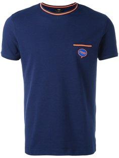 футболка с полосатой отделкой Fendi