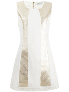 приталенное платье с отделкой металлик Pierre Balmain