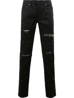 джинсы слим с потертой отделкой Saint Laurent