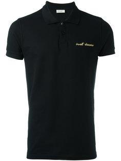 рубашка-поло с вышивкой Sweet Dreams  Saint Laurent
