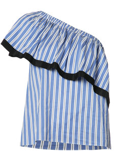 полосатая блузка на одно плечо Milly
