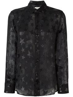 прозрачная рубашка  Saint Laurent