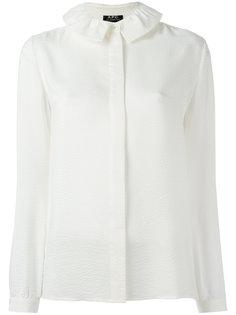 рубашка с оборчатым воротником A.P.C.