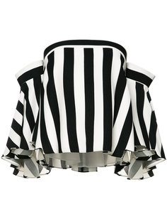 полосатая блузка с открытыми плечами Milly