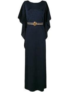 платье с открытой спиной  Alberta Ferretti