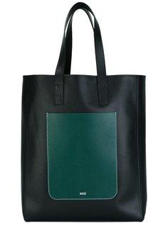сумка-тоут с накладным карманом Ami Alexandre Mattiussi