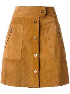 юбка А-силуэта с застежкой спереди Maison Margiela