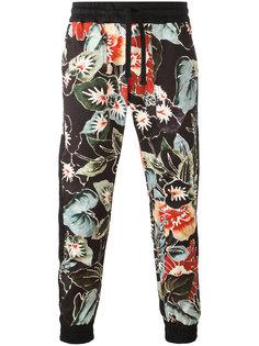 спортивные брюки с цветочным принтом Christian Pellizzari