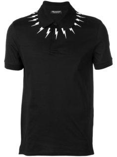 футболка-поло с молниями Neil Barrett