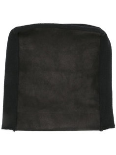 шапка-бини с кожаной панелью Julius