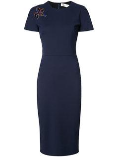 платье с цветочной вышивкой Victoria Beckham