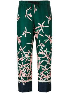 брюки с цветочным узором Moncler