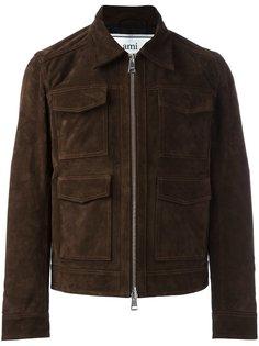 замшевая куртка с 4 карманами Ami Alexandre Mattiussi