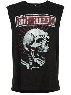 футболка с принтом черепа R13