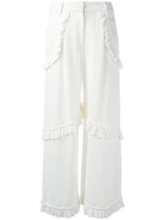 брюки с рюшами Simone Rocha