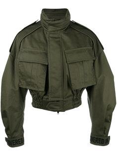 укороченная куртка в стиле милитари Juun.J