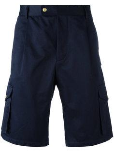 шорты с карманами и заплаткой с логотипом Moncler Gamme Bleu
