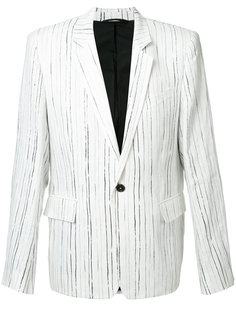 пиджак в тонкую полоску Ann Demeulemeester Grise