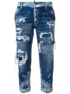 джинсы с потертой отделкой Dsquared2
