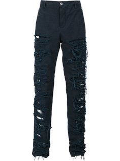 destroyed effect trousers Hood By Air
