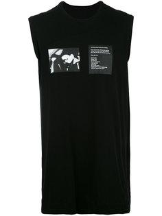 футболка с принтом без рукавов Julius