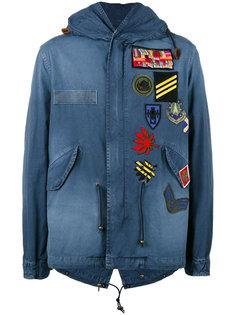 куртка в военном стиле с нашивками Mr & Mrs Italy
