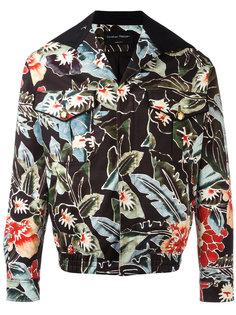 куртка-бомбер с цветочным принтом Christian Pellizzari