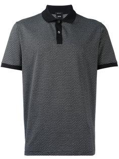 рубашка-поло с контрастным воротником Boss Hugo Boss