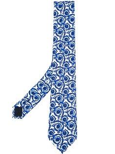 галстук Baroque с узором Versace