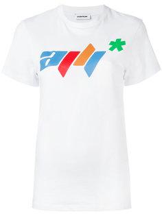 футболка с принтом логотипа   Au Jour Le Jour