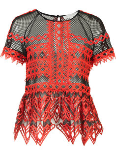 ruffled sheer blouse Jonathan Simkhai