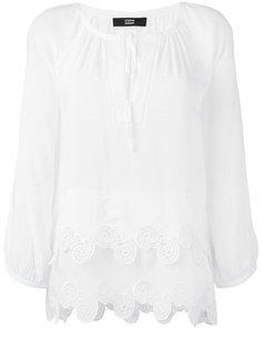 блузка с волнистым подолом Steffen Schraut