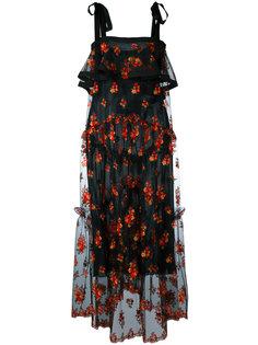 прозрачное платье с цветочной вышивкой Philosophy Di Lorenzo Serafini