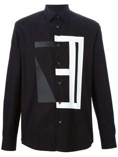 рубашка с принтом Shape Collage McQ Alexander McQueen