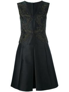 расклешенное платье со складками Alberta Ferretti