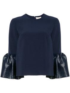 блузка с расклешенными рукавами Roksanda